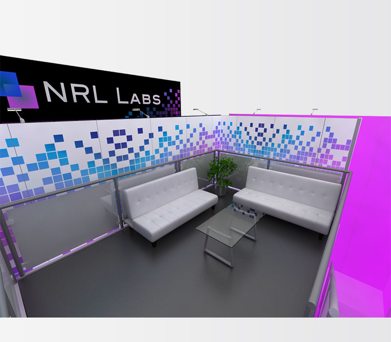 NRL Labs Trade Show Booth Rental Seating