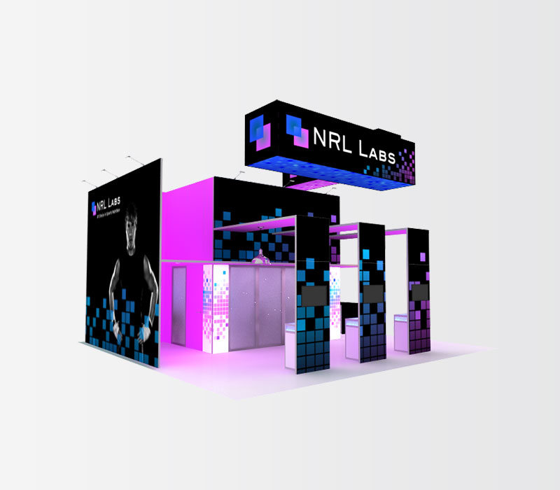 NRL Labs Trade Show Booth Rental Front