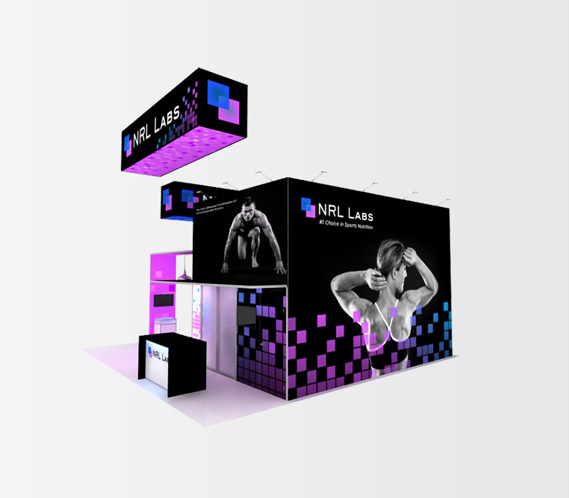 NRL Labs Trade Show Booth Rental Side