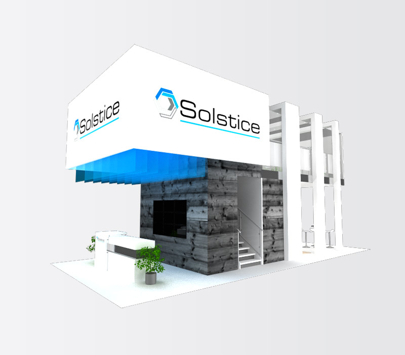 Solstice Trade Show Display Booth Side