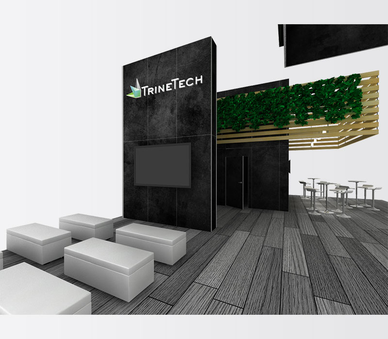 TrineTech Trade Show Booth Rental Inside