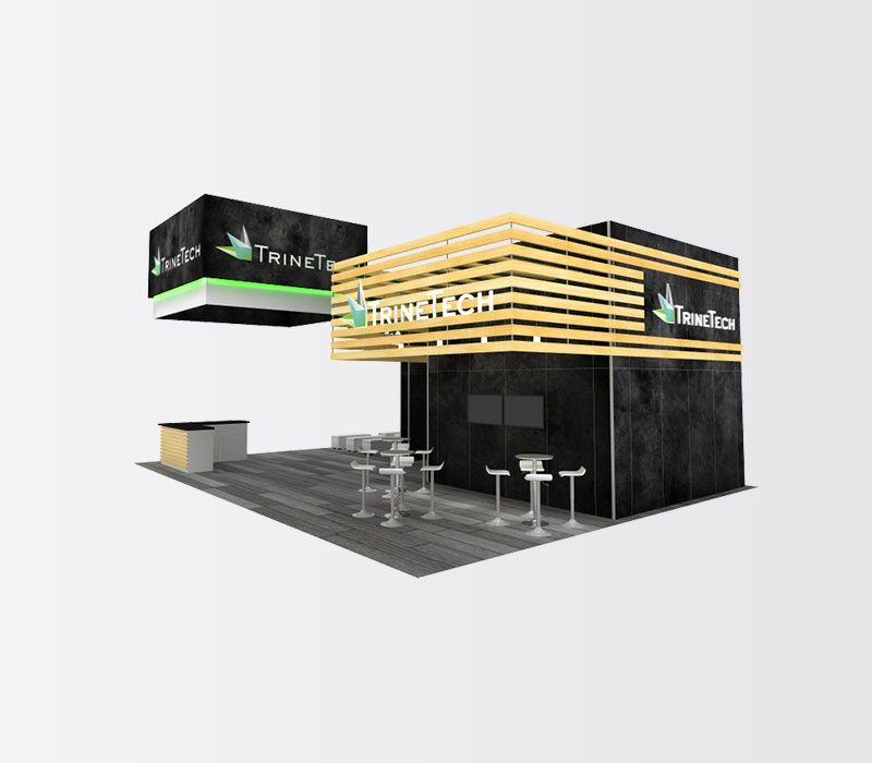 TrineTech Trade Show Booth Rental Front