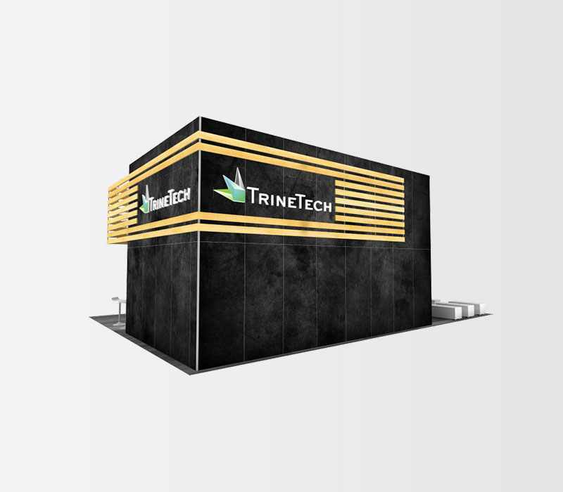 TrineTech Trade Show Booth Rental Back