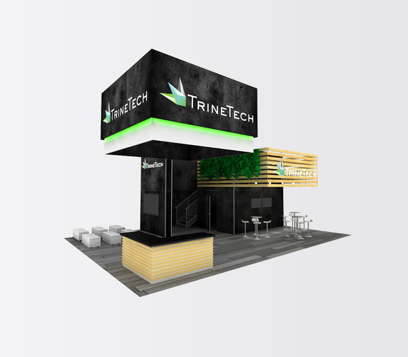 TrineTech Trade Show Booth Rental