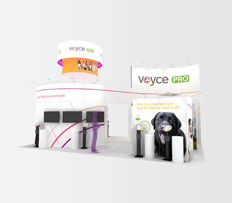 VoycePro 20x30 Trade Show Exhibit - Front