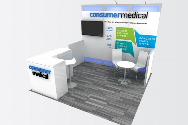 10x10 Trade Show Booths | ExpoMarketing