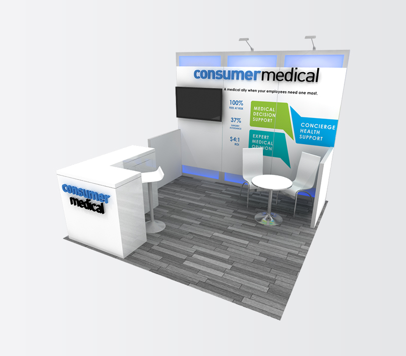 medical device industry trade show display rental
