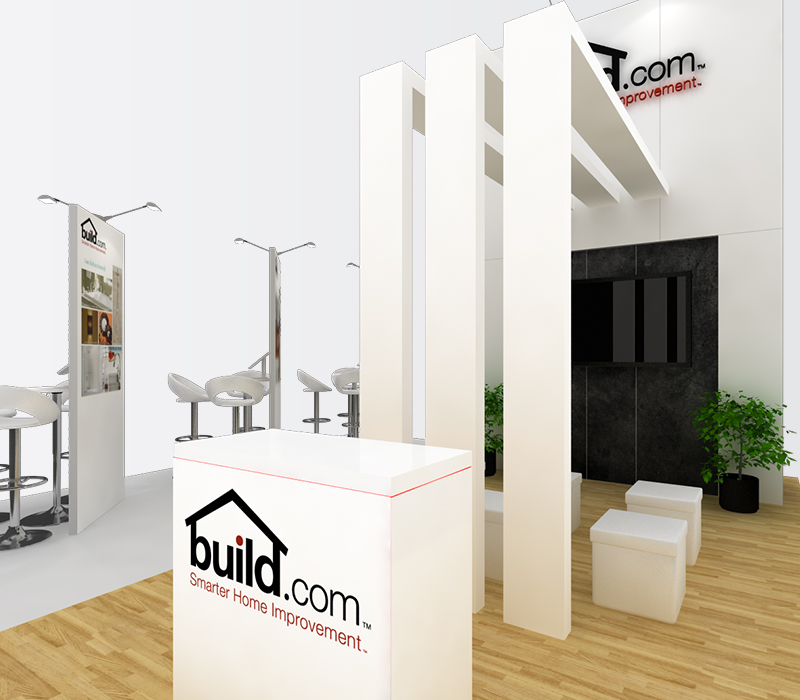 Build.com Dwell on Design 20x20 trade show booth rentals