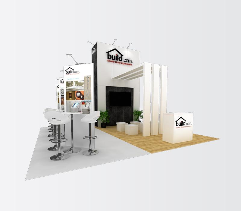 Build.com Dwell on Design 20x20 trade show exhibit rentals