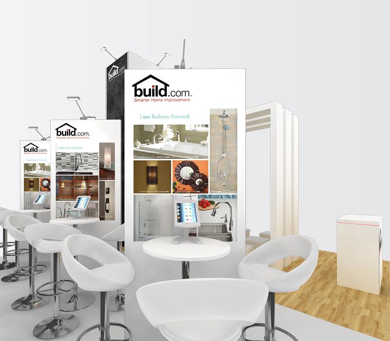 Build.com Dwell on Design 20x20 trade show stand rentals