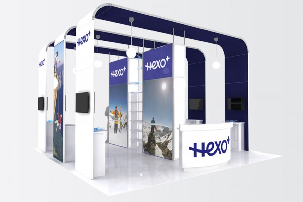 Booth Design Ideas 20 x 20 open booth design idea Hexo 20 20