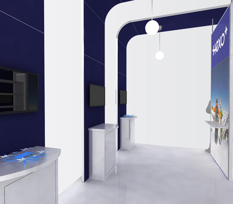 Hexo+ CES 20x20 trade show booths