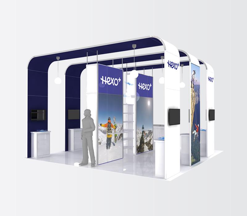 Hexo+ CES 20x20 trade show display rentals
