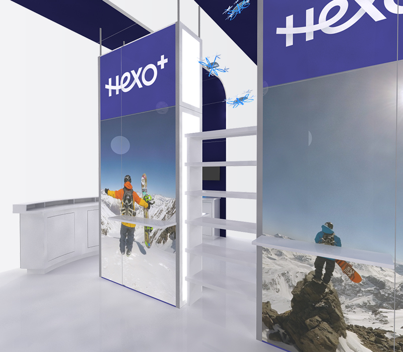 Hexo+ CES 20x20 trade show exhibits