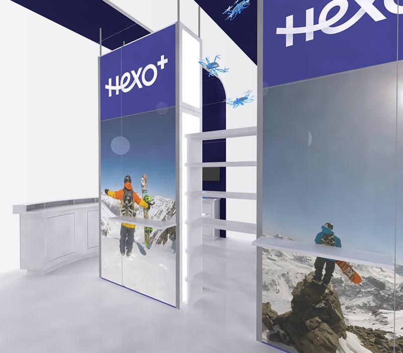 Hexo+ CES 20x20 trade show exhibits