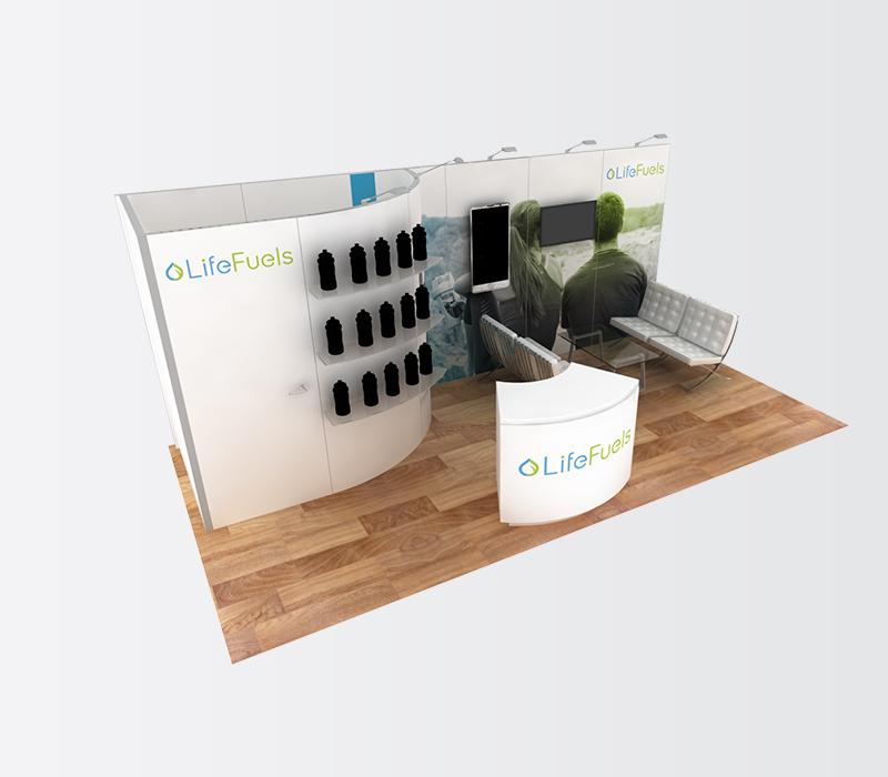Life Fuels 10x20 inline booth rentals