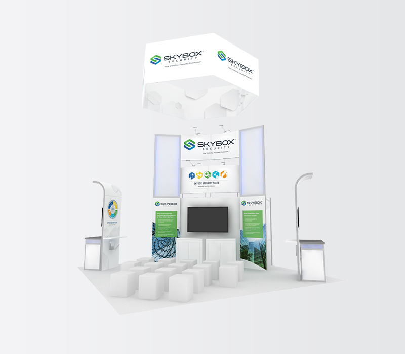 SkyBox RSA 20x20 trade show booth rentals