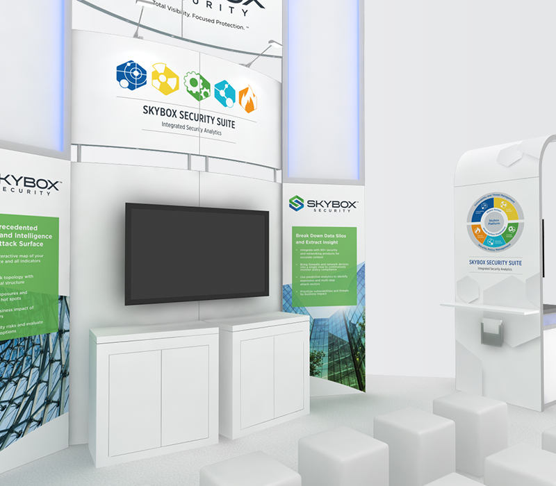 SkyBox RSA 20x20 trade show booths