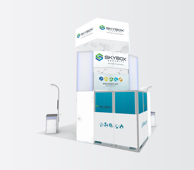 SkyBox RSA 20x20 trade show display rentals