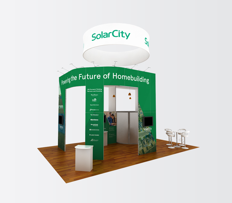 SolarCity IBS 20x30 trade show booth rentals