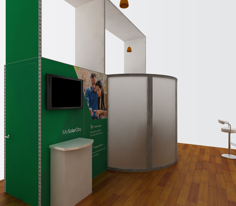 SolarCity IBS 20x30 trade show booths