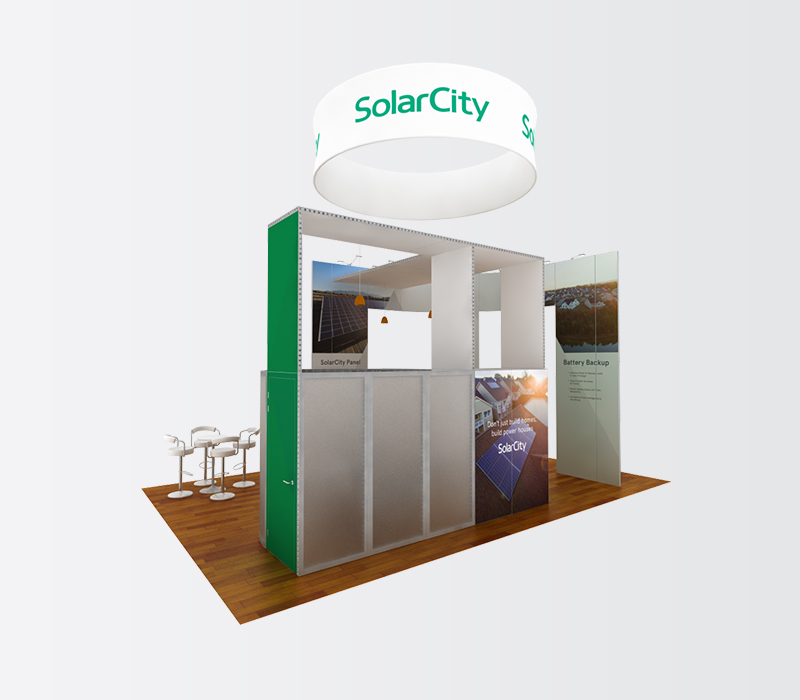SolarCity IBS 20x30 trade show display rentals