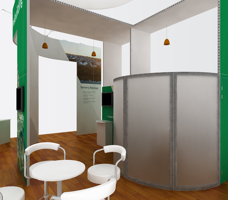 SolarCity IBS 20x30 trade show exhibit rentals