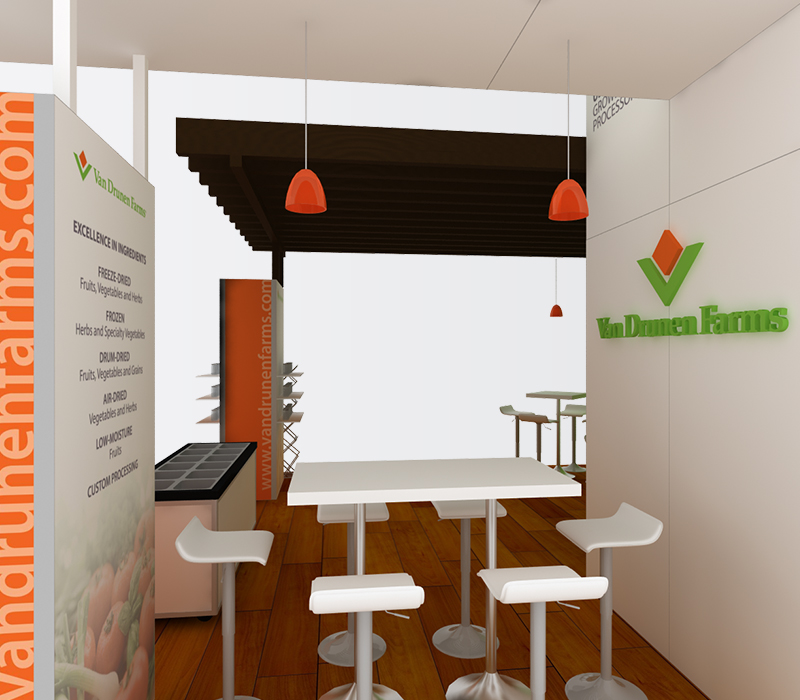 Van Drunen Farms Natural Products Expo 20 x 20 Trade Show Booths