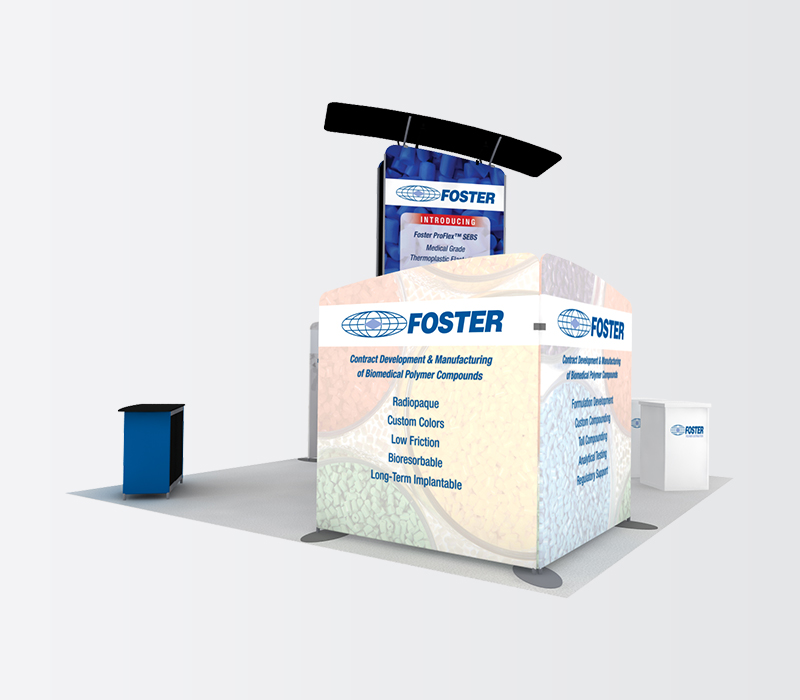 foster 20 x 20 trade show booth rental