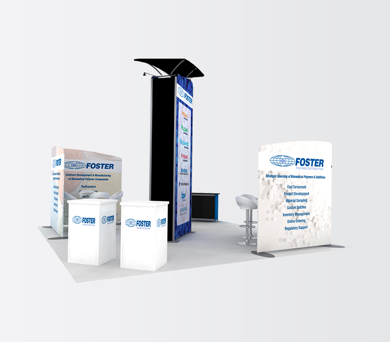 foster 20 x 20 trade show booths