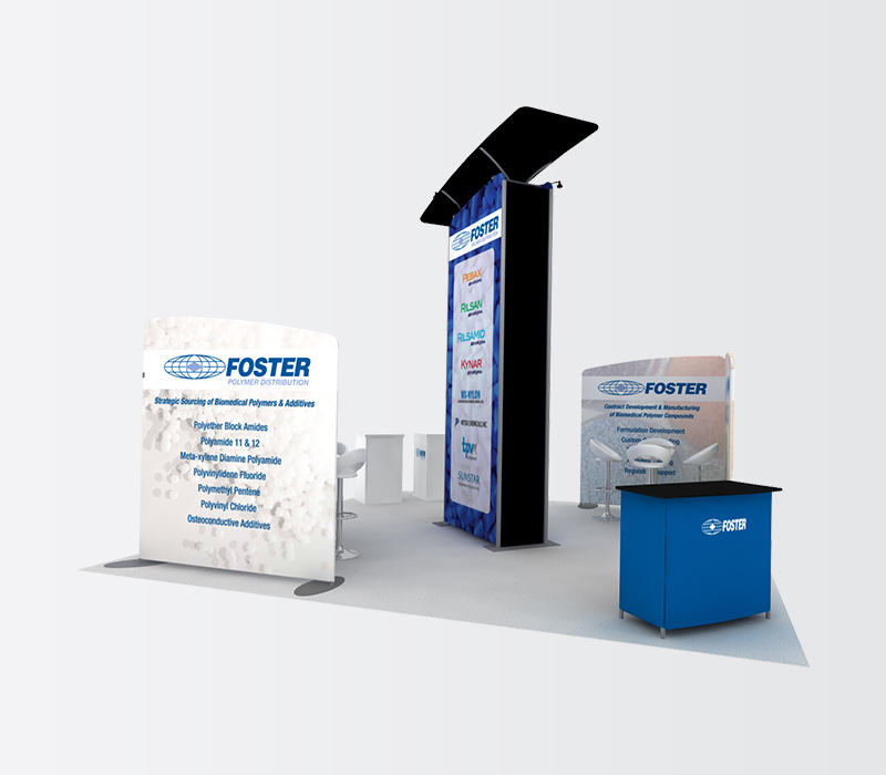 foster 20x20 trade show display rentals