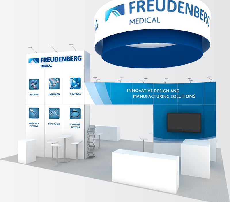 Pharmaceutical trade show display rental