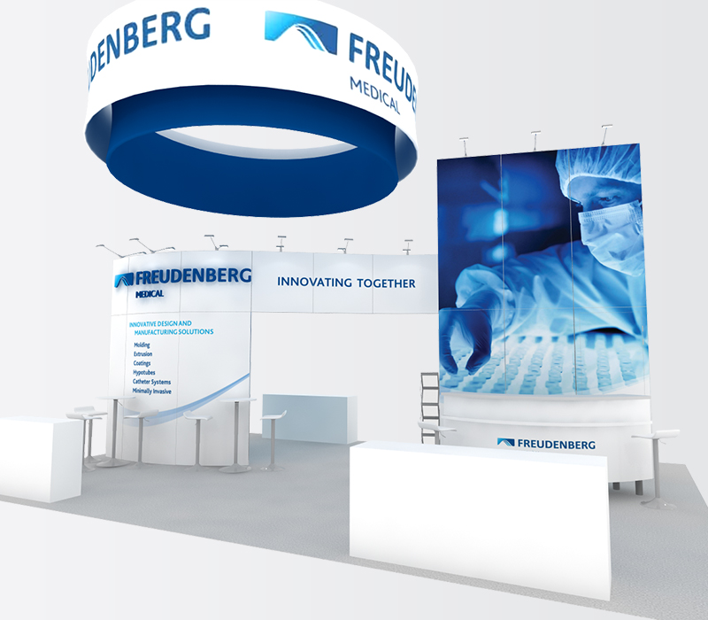 freudenberg medical trade show booth 20x30