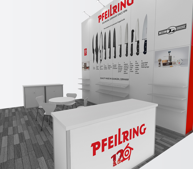 pfeilring housewares 20x20 trade show booths
