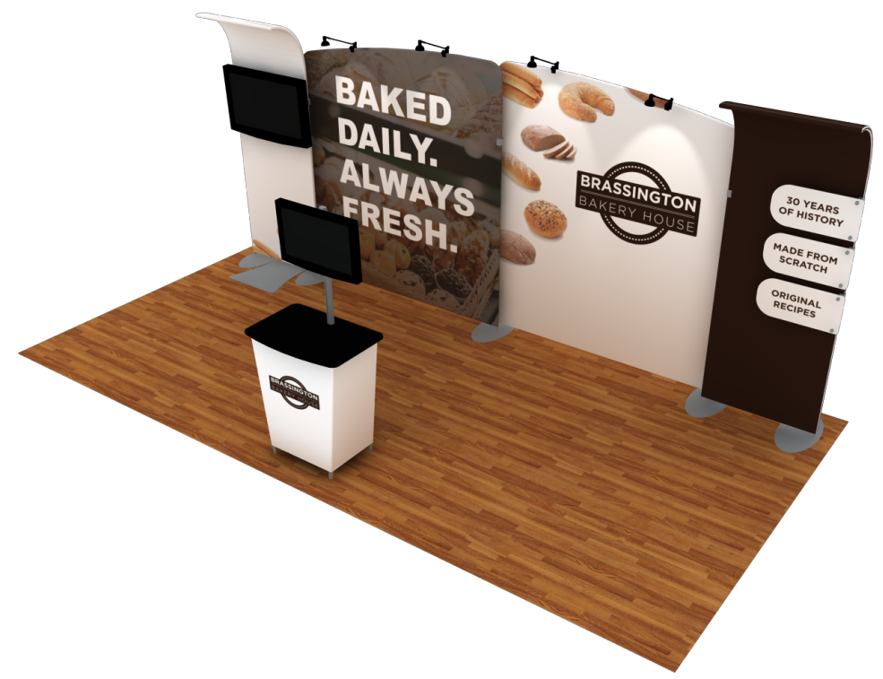 food trade show booth rental