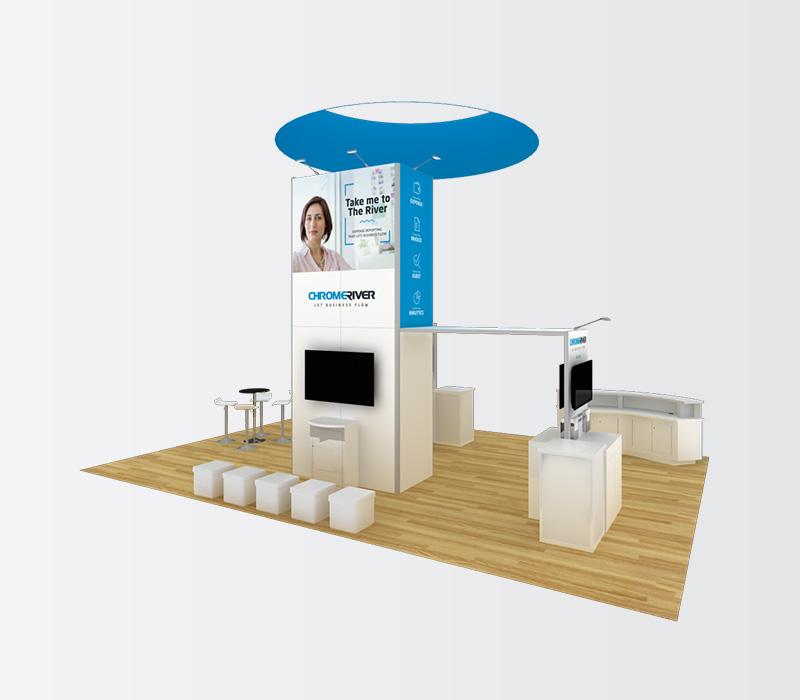20 x 30 Custom Trade Show Stand