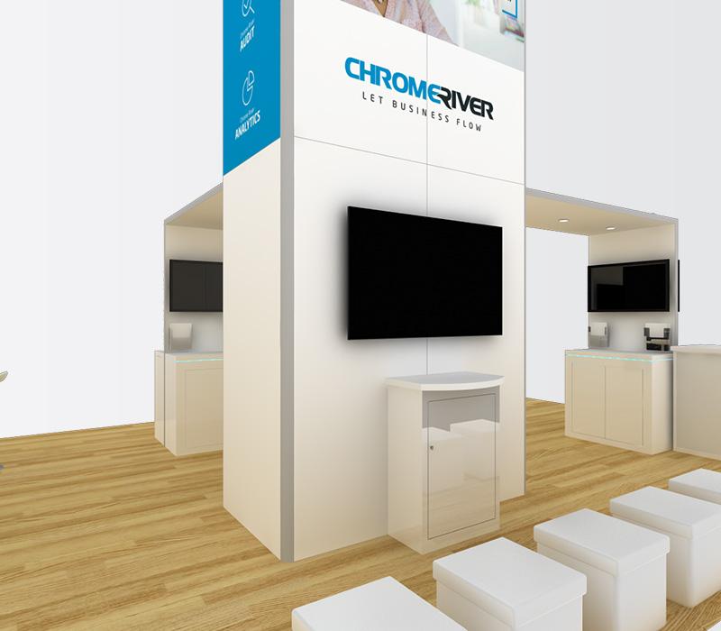 20 x 30 Custom Trade Show Display Builder
