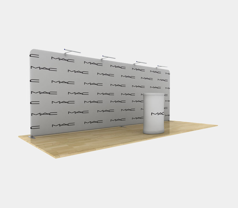 20x8 Straight Pop Up Display