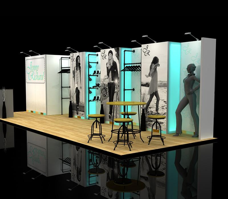 Custom retailer trade show booth