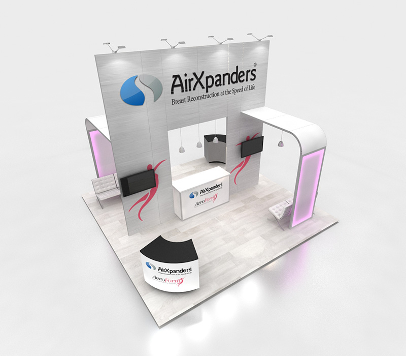 Custom Trade Show Booth with LED lights
