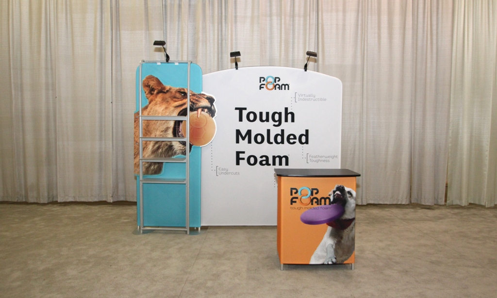 Front Custom Portable Fabric Exhibit
