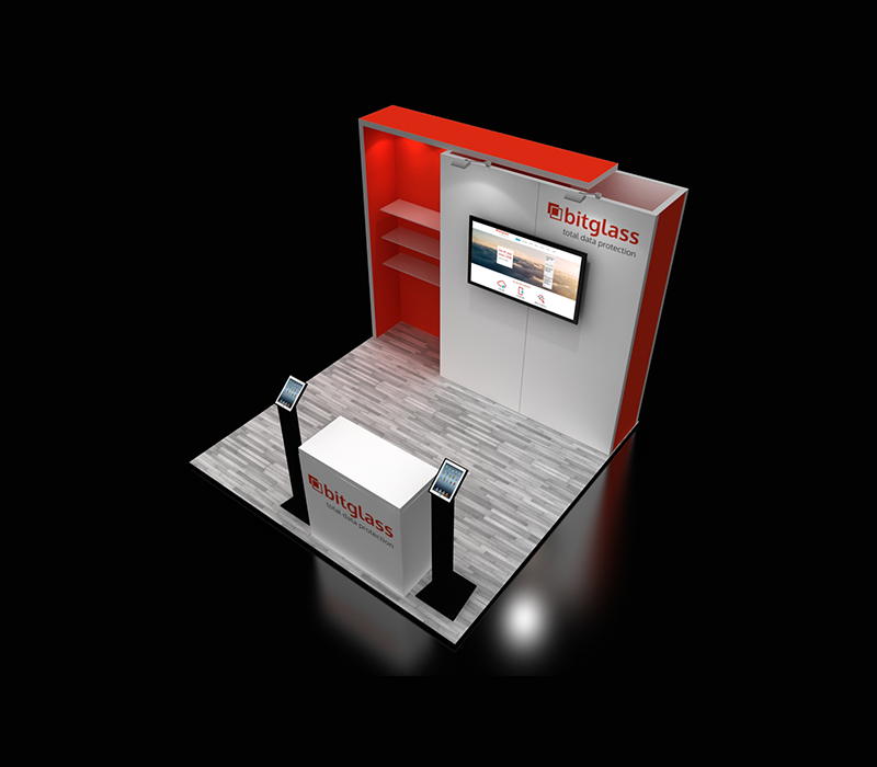 10 x 10 Custom Trade Show Exhibit