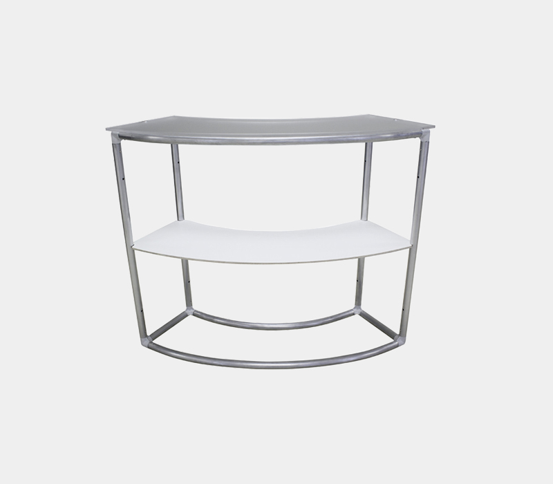 WS Fabric Counter Curved Structure with Shelf