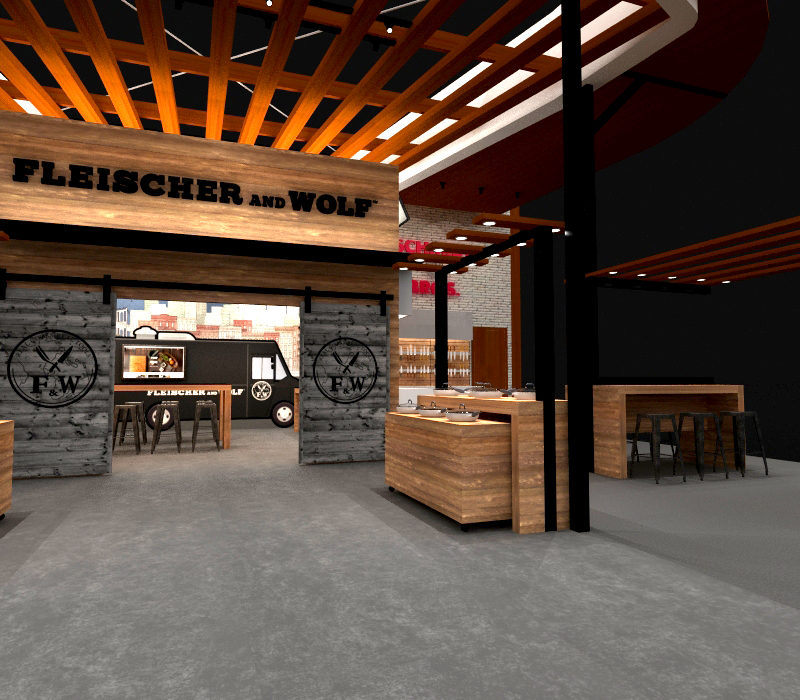 Wood Trade Show Booth : Hudson 45 x 50 expomarketing
