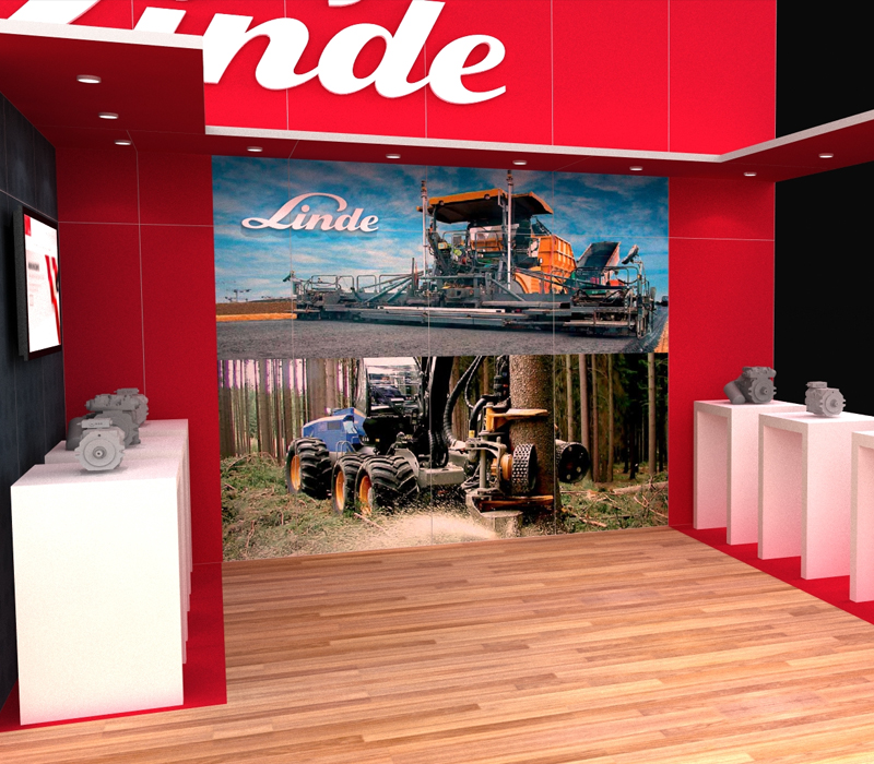 20x30 Custom Trade Show Booth with Product Display Counter