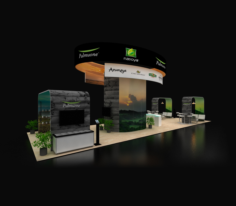 20x60 Custom Trade Show Exhibit