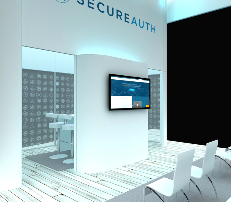 20x30 Custom Trade Show Booth with Theatre Seating