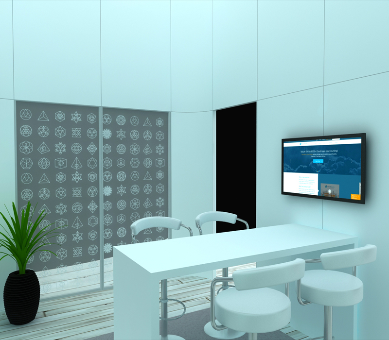20x30 Custom Trade Show Exhibit Conference Room