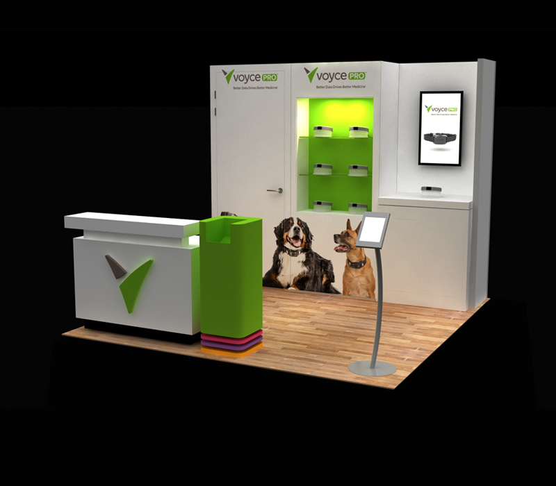 10x10 Voyce Pro Custom Trade Show Exhibit Designs
