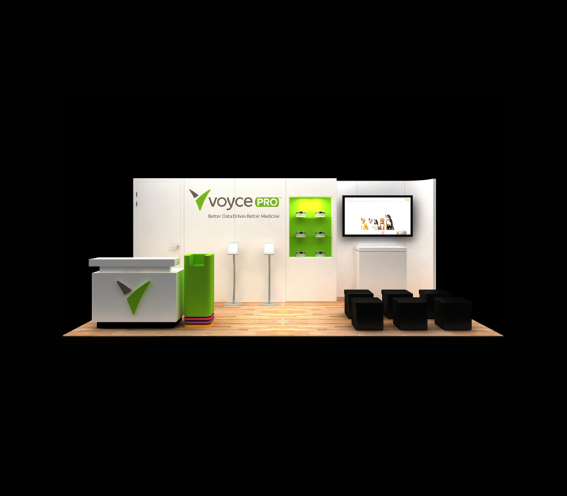 10x30 Voyce Pro Custom Trade Show Exhibit Designs